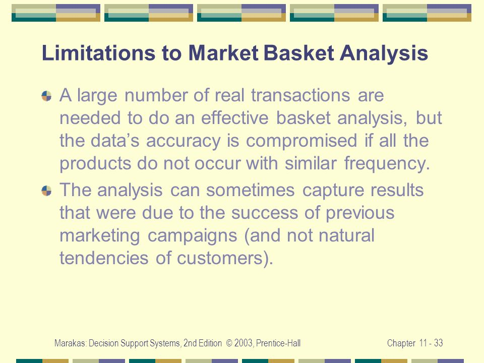 Limitations to Market Basket Analysis
