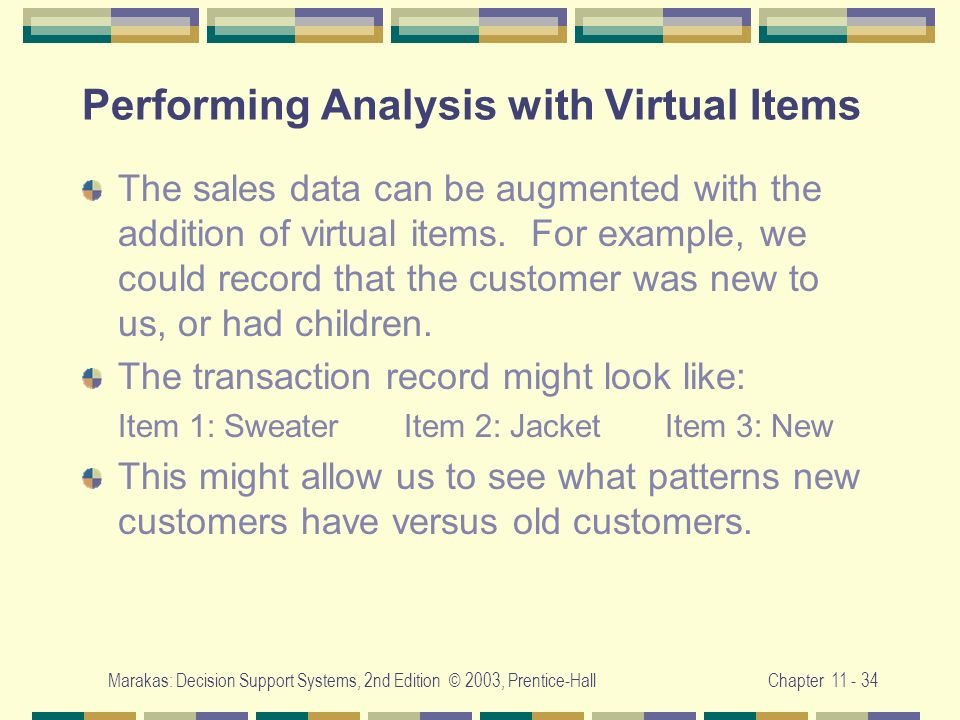 Performing Analysis with Virtual Items