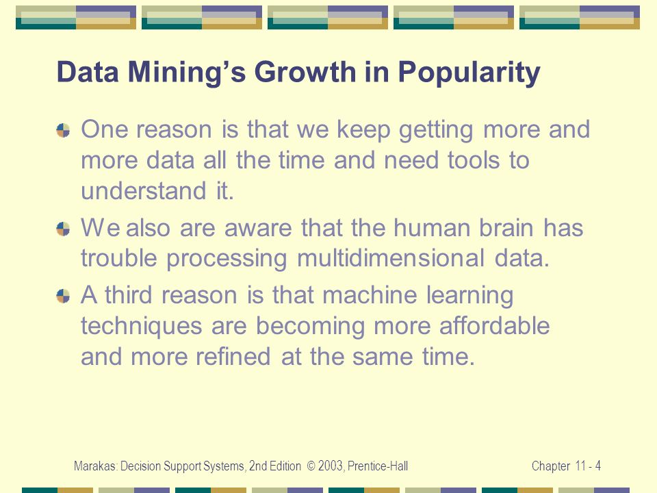 Data Mining's Growth in Popularity