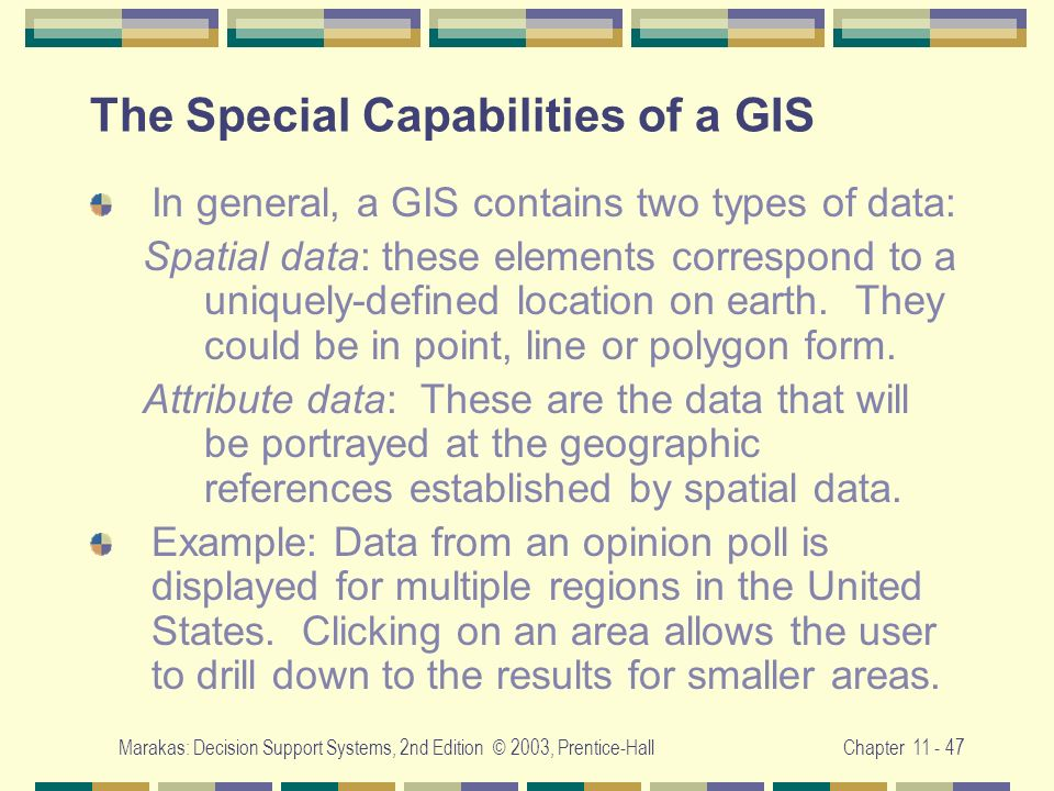 The Special Capabilities of a GIS
