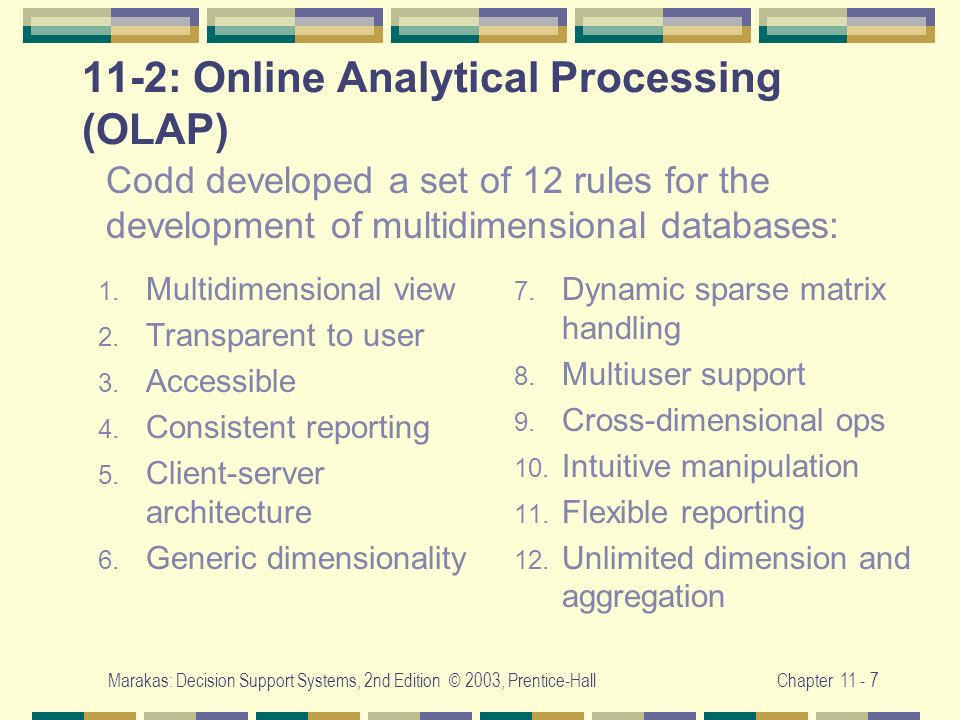 11-2: Online Analytical Processing (OLAP)