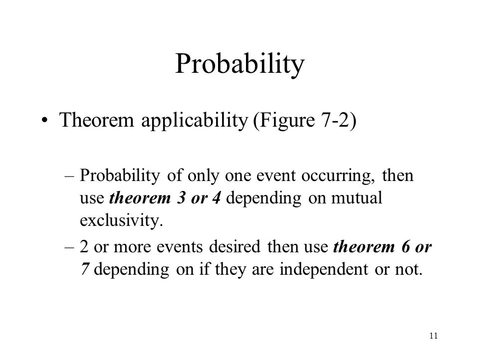 Probability Theorem applicability (Figure 7-2)