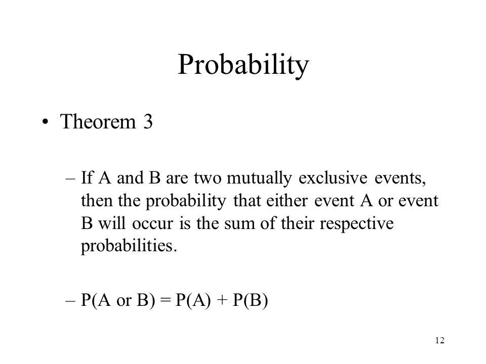 Probability Theorem 3.