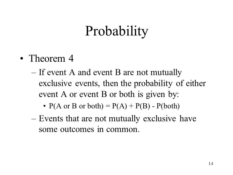 Probability Theorem 4.