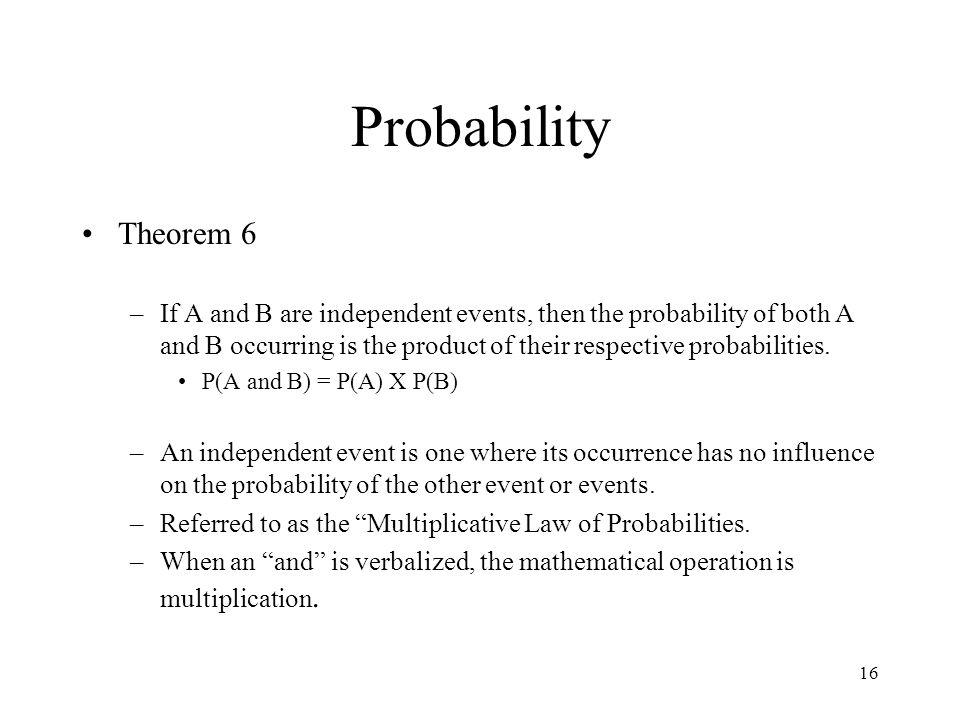 Probability Theorem 6.