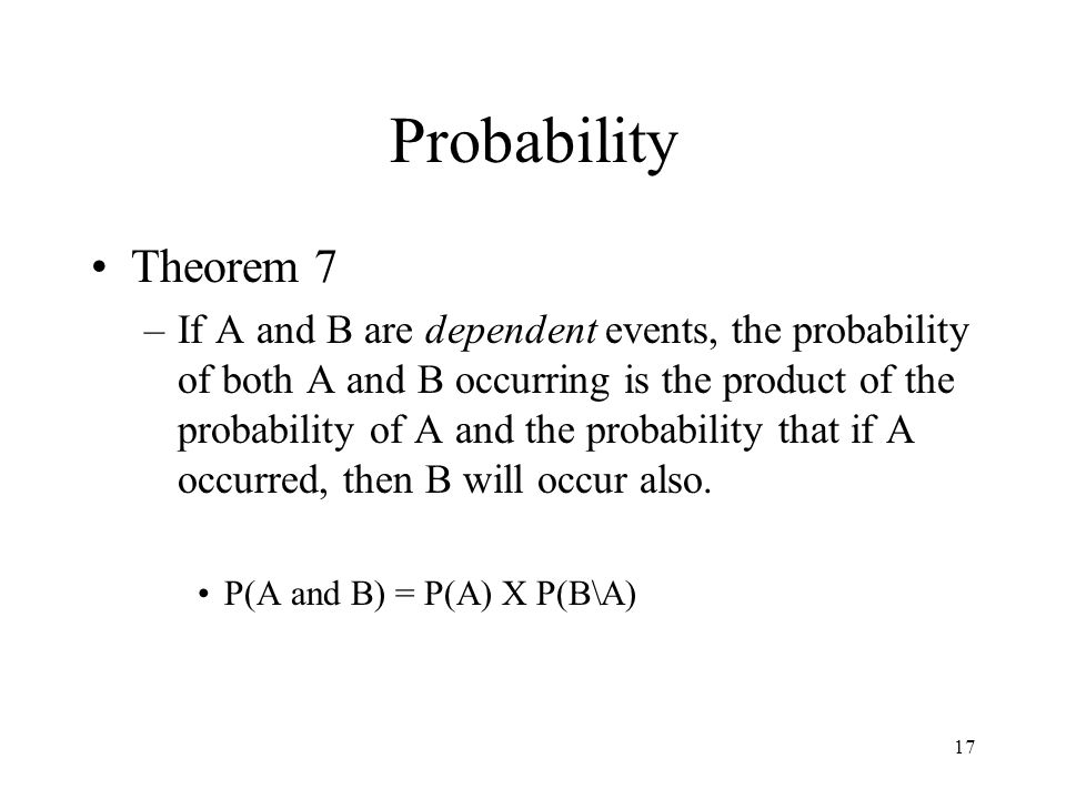 Probability Theorem 7.