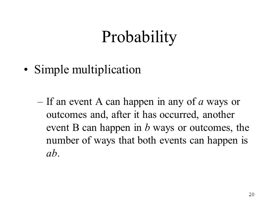 Probability Simple multiplication