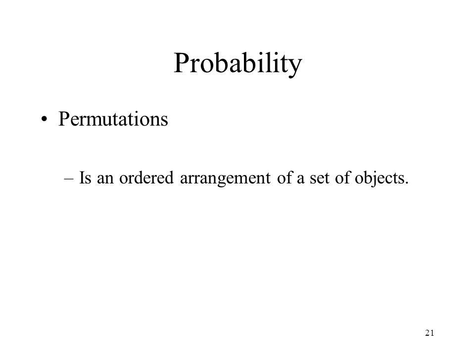 Probability Permutations