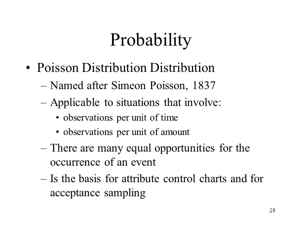 Probability Poisson Distribution Distribution