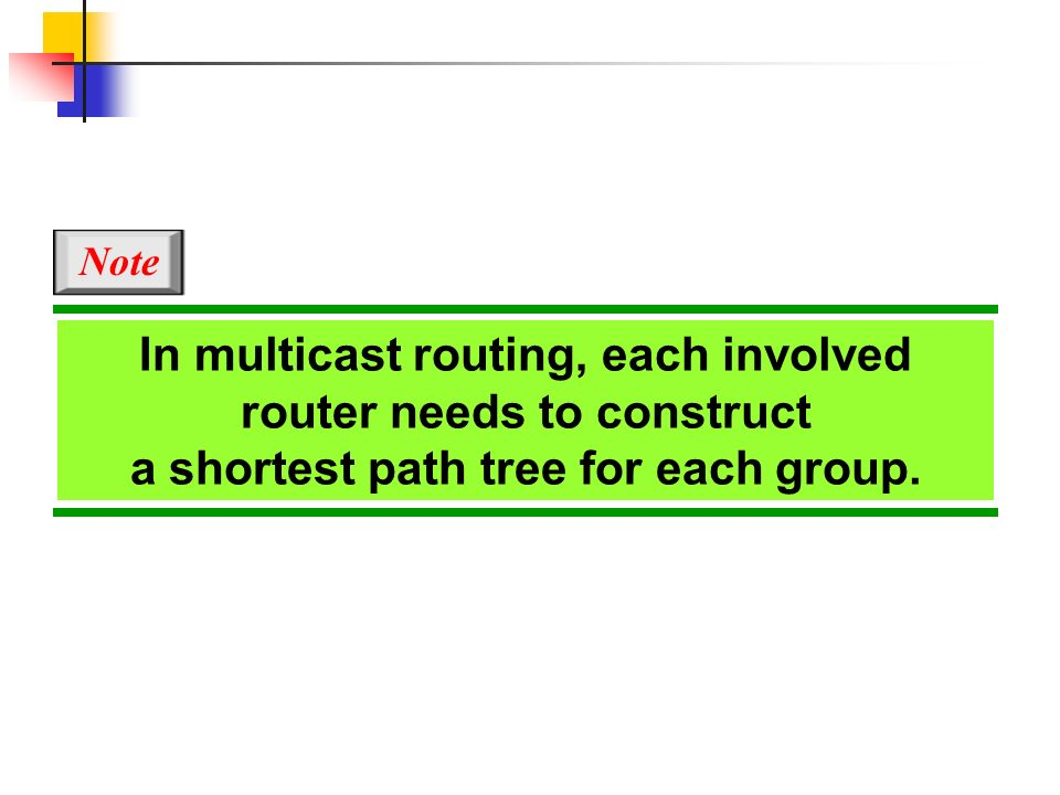 In multicast routing, each involved router needs to construct