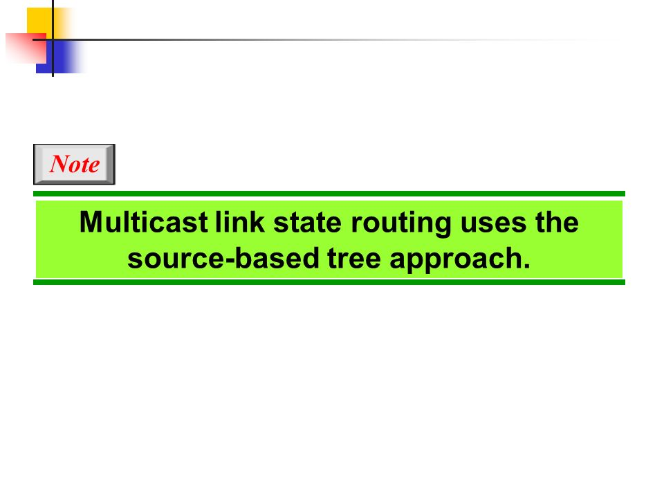 Multicast link state routing uses the source-based tree approach.