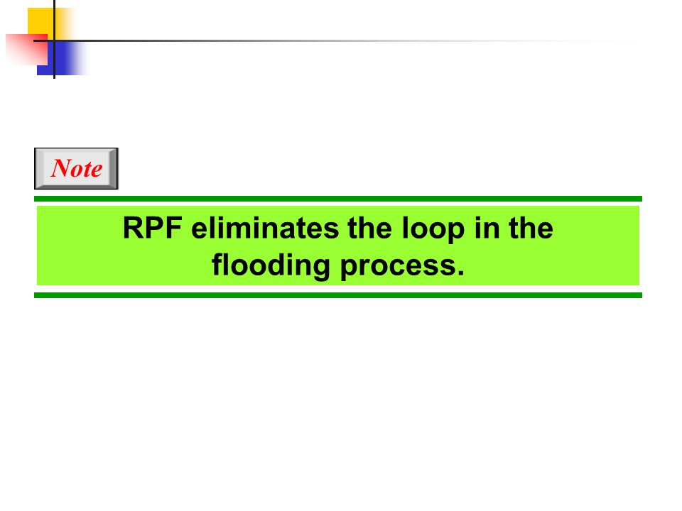 RPF eliminates the loop in the flooding process.