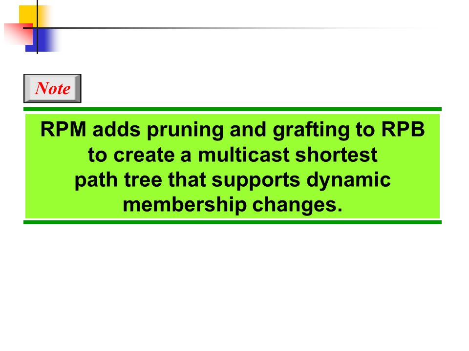 RPM adds pruning and grafting to RPB to create a multicast shortest