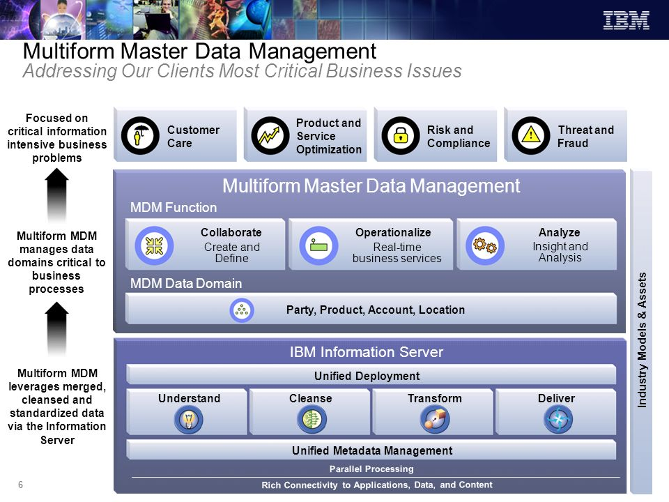Multiform Master Data Management Addressing Our Clients Most Critical Business Issues