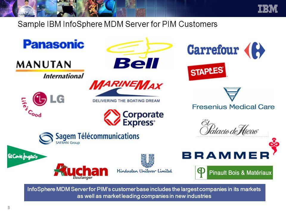 Sample IBM InfoSphere MDM Server for PIM Customers
