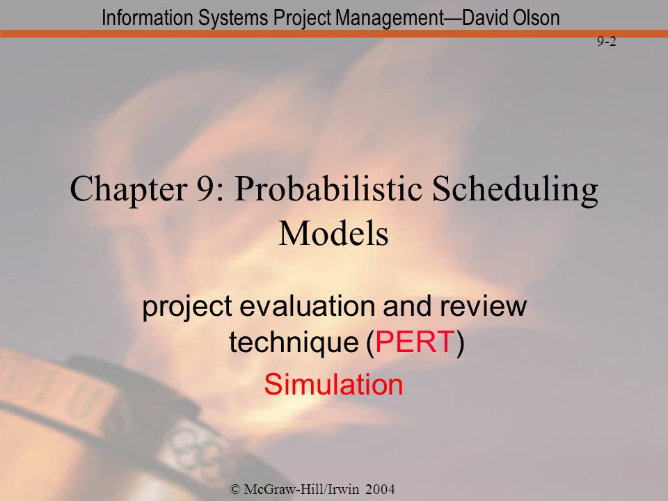 Chapter 9: Probabilistic Scheduling Models