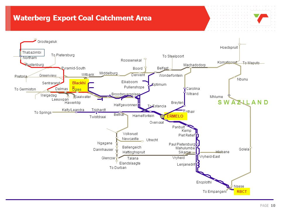 Waterberg Export Coal Catchment Area