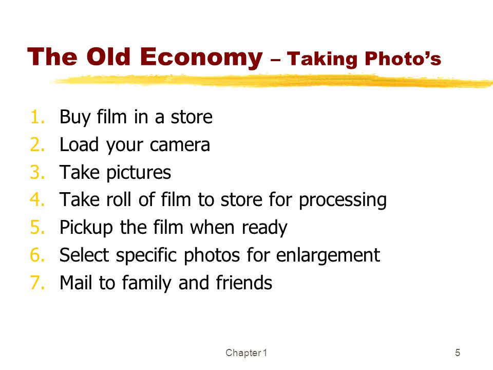 The Old Economy – Taking Photo's