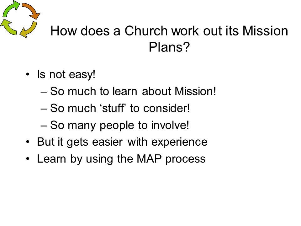 How does a Church work out its Mission Plans