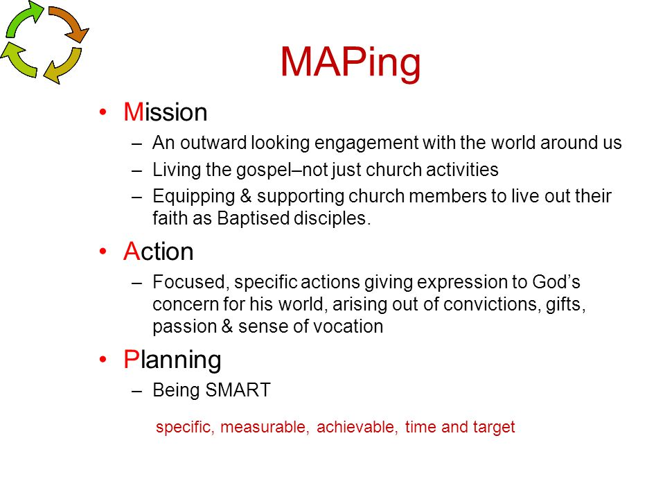 MAPing Mission Action Planning