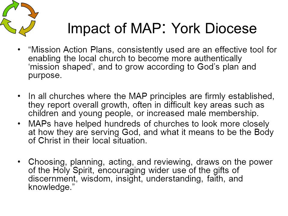 Impact of MAP: York Diocese