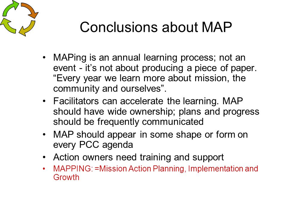 Conclusions about MAP