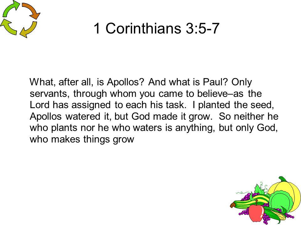 1 Corinthians 3:5-7