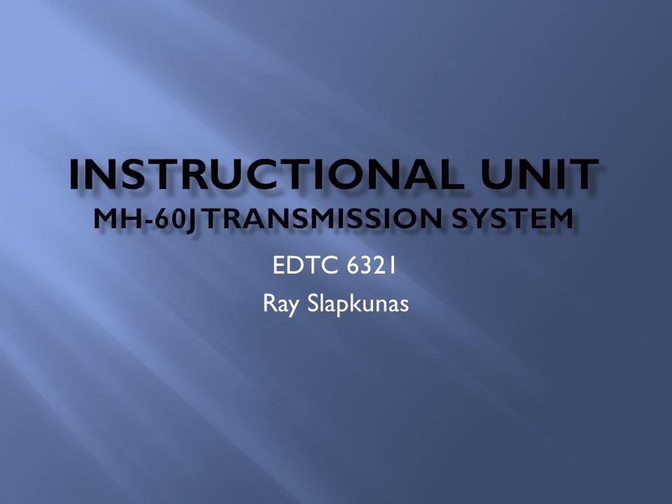 Instructional unit MH-60J transmission System