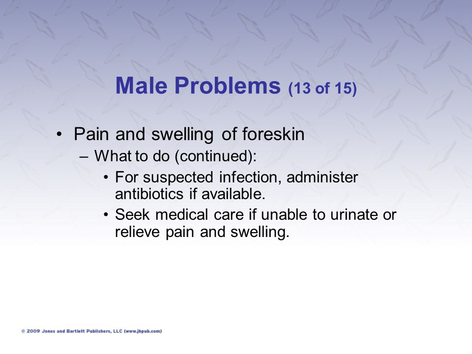 Male Problems (13 of 15) Pain and swelling of foreskin