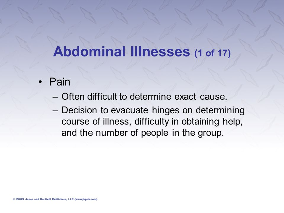Abdominal Illnesses (1 of 17)