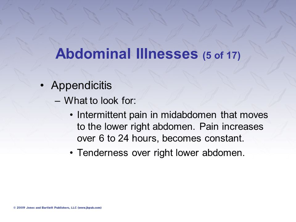 Abdominal Illnesses (5 of 17)