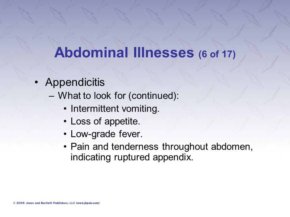 Abdominal Illnesses (6 of 17)