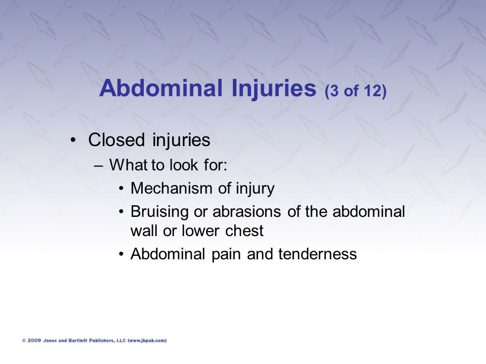 Abdominal Injuries (3 of 12)