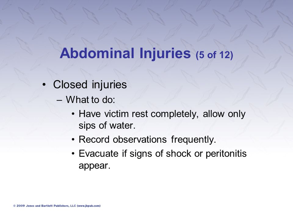 Abdominal Injuries (5 of 12)