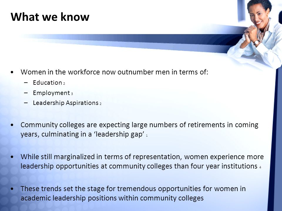 What we know Women in the workforce now outnumber men in terms of: