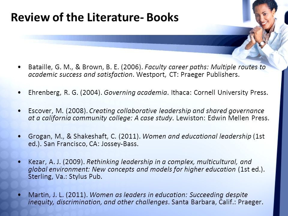 Review of the Literature- Books