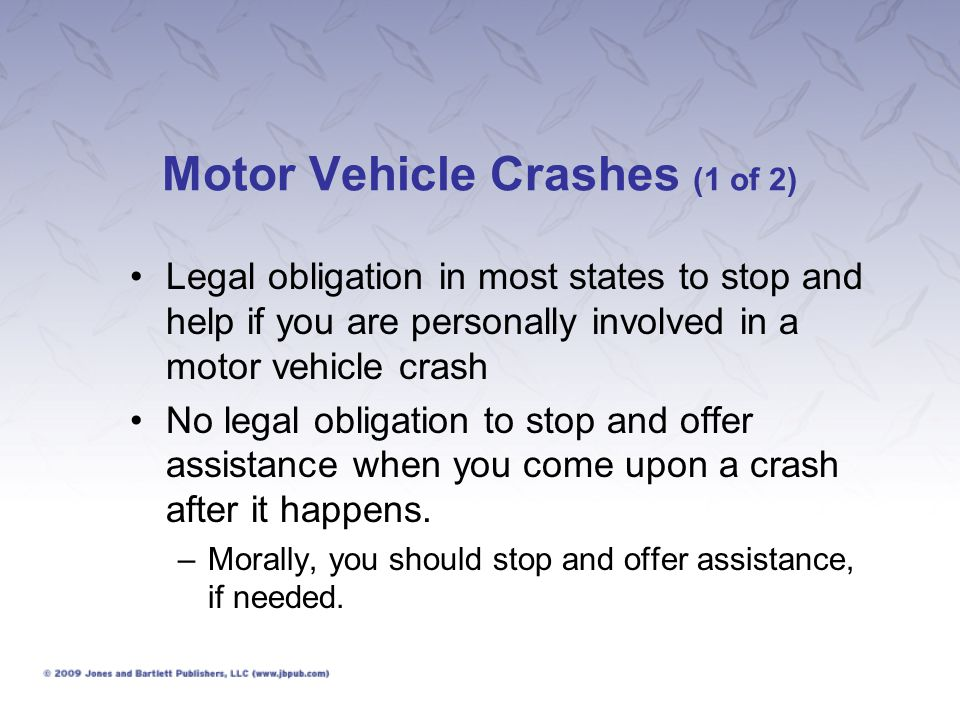 Motor Vehicle Crashes (1 of 2)