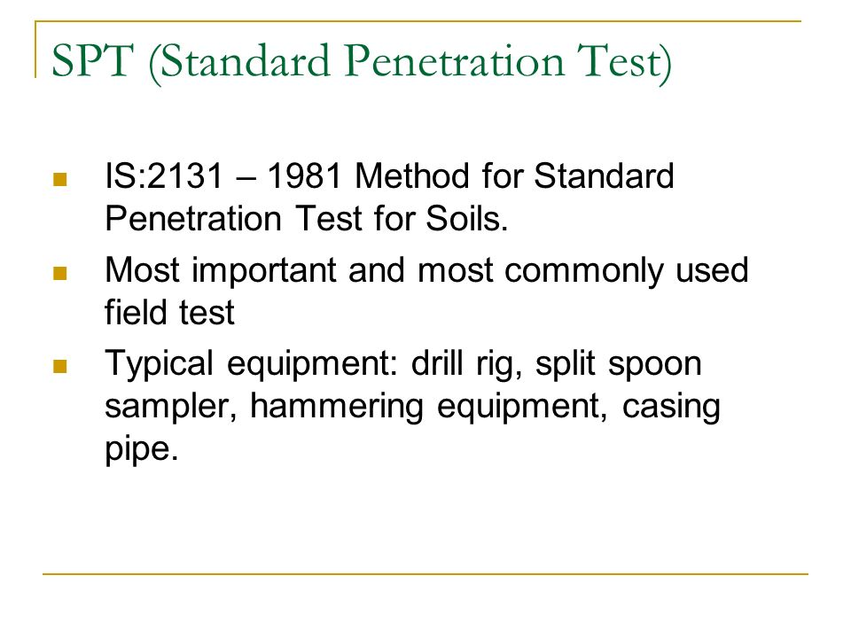 Standard penetration test soils whore
