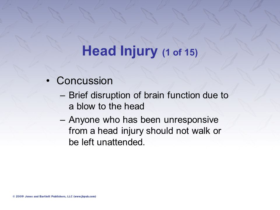 Head Injury (1 of 15) Concussion