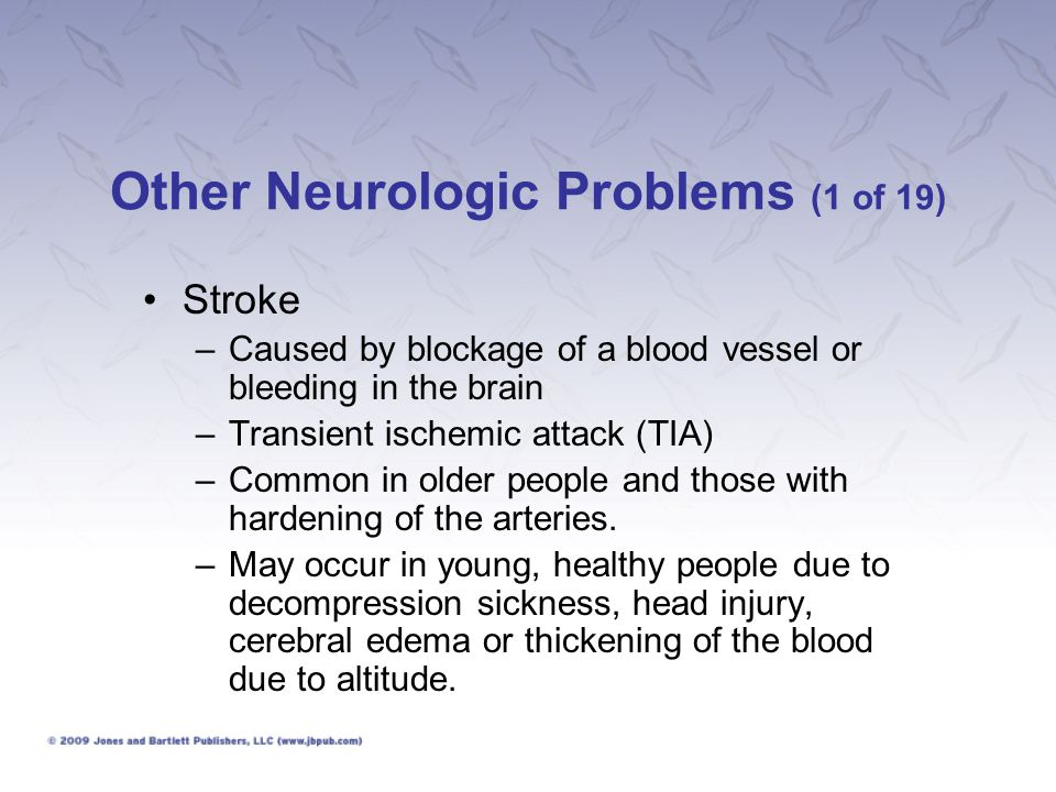 Other Neurologic Problems (1 of 19)