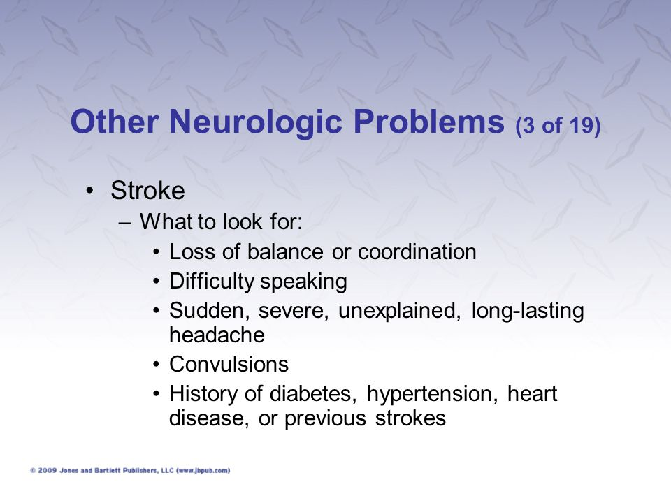 Other Neurologic Problems (3 of 19)