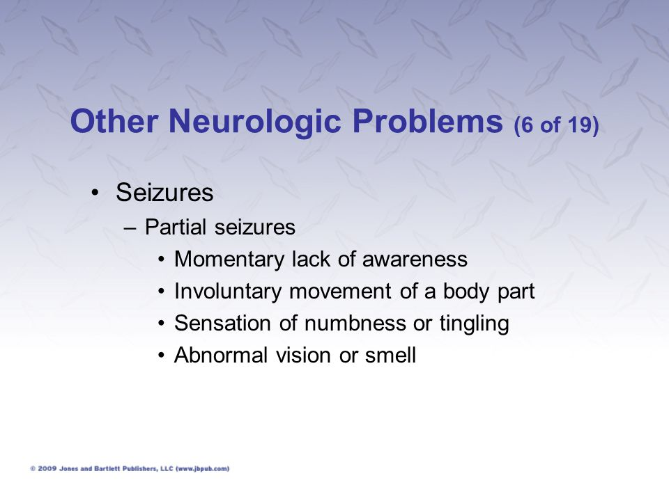 Other Neurologic Problems (6 of 19)