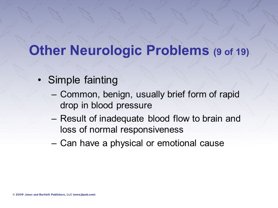 Other Neurologic Problems (9 of 19)