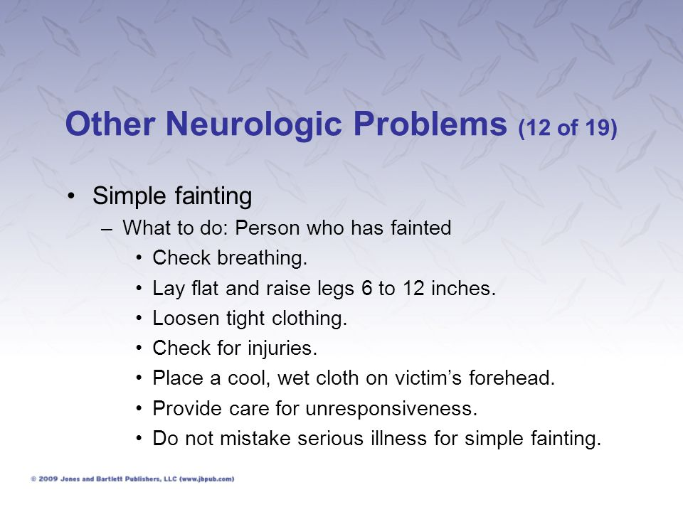Other Neurologic Problems (12 of 19)