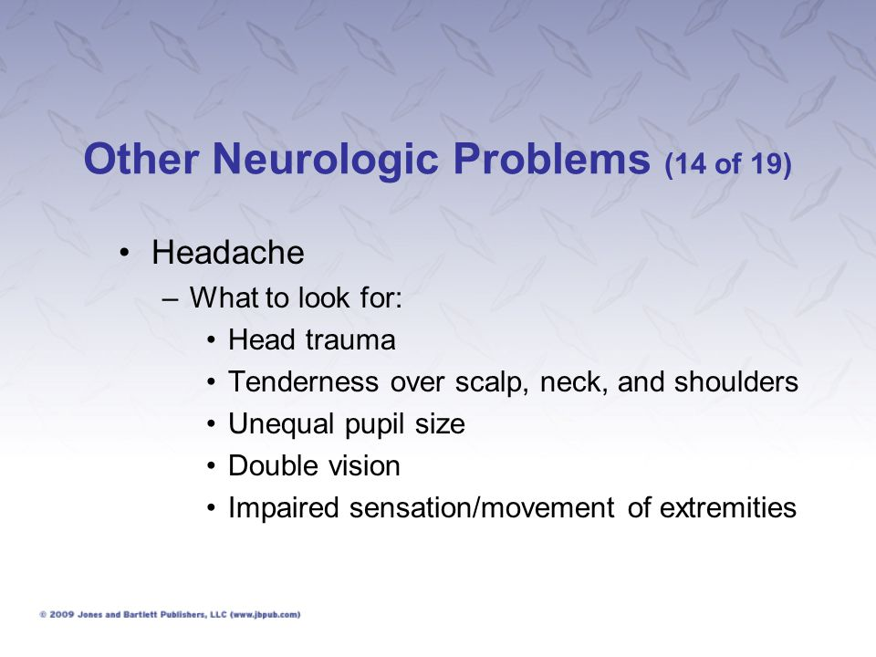 Other Neurologic Problems (14 of 19)