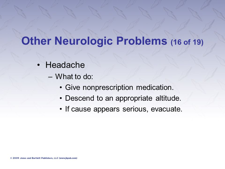 Other Neurologic Problems (16 of 19)