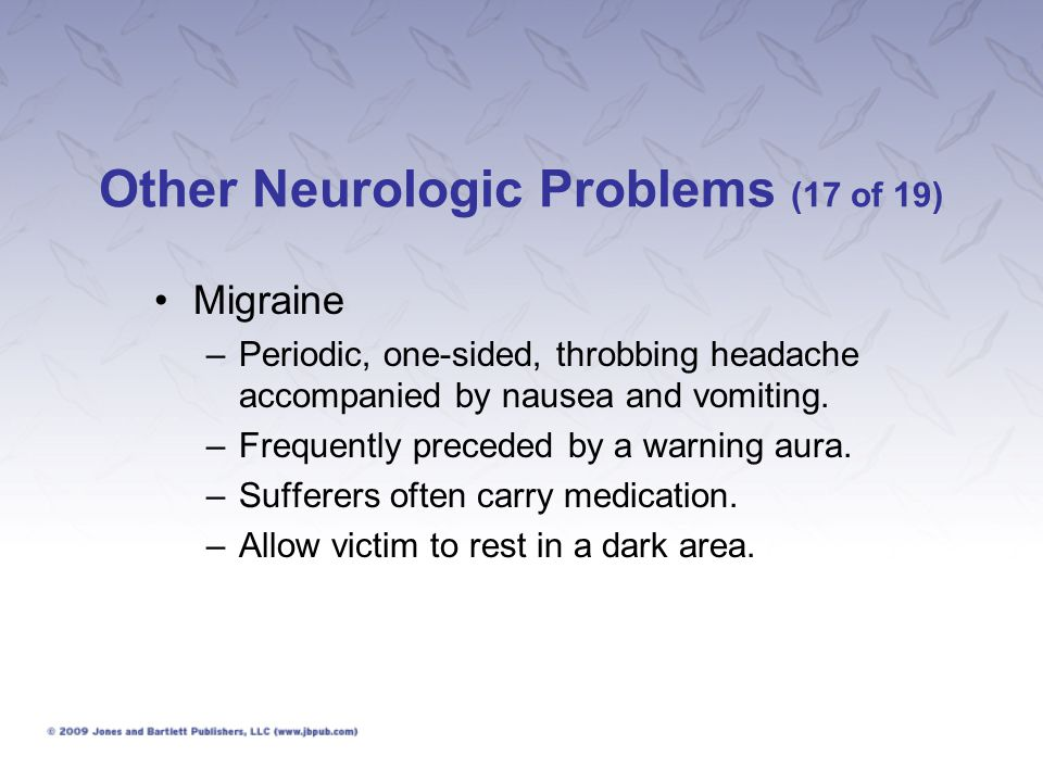 Other Neurologic Problems (17 of 19)