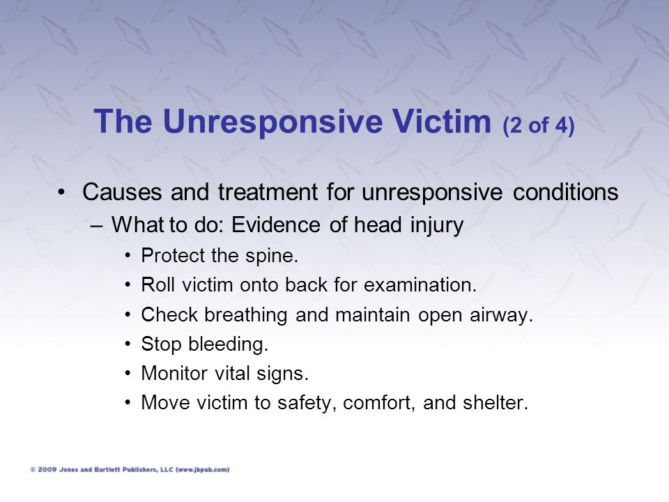 The Unresponsive Victim (2 of 4)