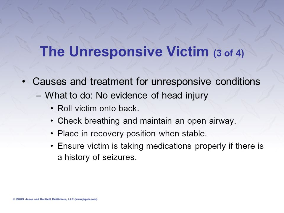 The Unresponsive Victim (3 of 4)