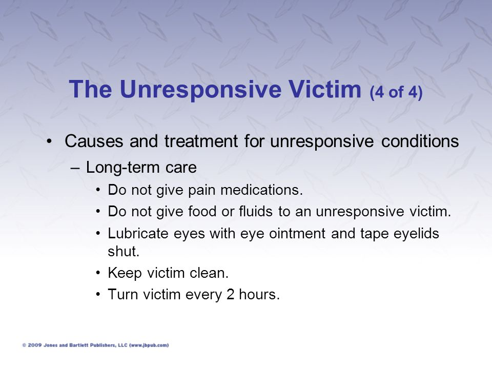 The Unresponsive Victim (4 of 4)